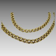 Vintage Russian 14 karat Gold necklace ( babai )