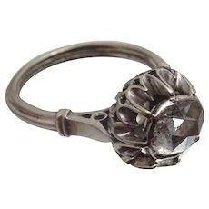 Vintage Rose cut Diamond 14 karat Gold Ring