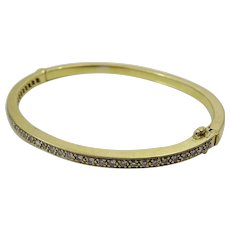 Vintage 18 karat Gold and Diamond Bracelet
