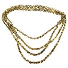 Vintage 18 karat Gold Hollow link necklace