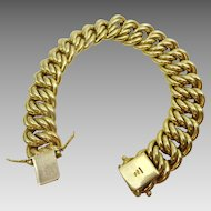 Vintage 18 karat Gold Heavy link Bracelet
