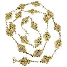 Vintage 18 karat Gold French Necklace