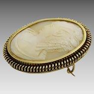 Vintage 14 karat Gold Cameo Pin - Pendant.