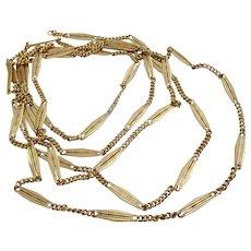 Very very long 14 karat Gold Vintage Necklace