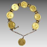 Vintage Traditional Iraqi- Kurdish 21 Karat Gold Dowry Bracelet