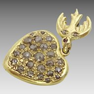 Vintage 14 karat Gold and Diamant pendant