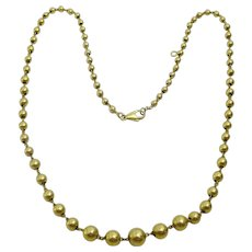 Vintage 18 karat Gold French Ball Necklace