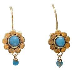 Artisan Dainty Turquoise Earrings