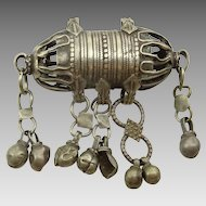 Antique Omani Silver Pendant -Amulet Box