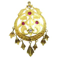 Vintage 22 karat Gold Pendant from North India