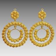 Unique Antique Persian Gold Earrings