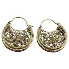 Handmade 9 karat Gold Basket of Plenty Earrings