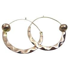 Big Tuscan Hoop  14 karat Gold Earrings