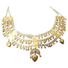 Vintage Kurdish 21 karat Gold dowry necklace