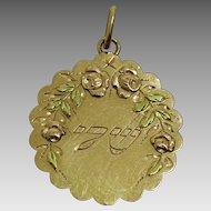 Vintage 3 Colour  18 Karat Gold Sheddai Pendant