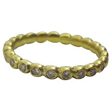 Handmade Artisan Diamond Eternity Ring