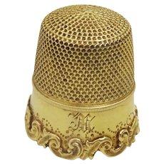 Vintage 14 karat Gold Thimble