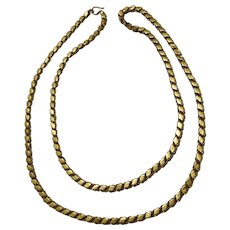Traditional Vintage 21 karat Gold Handmade Necklace from Allepo (Haleb) Syria