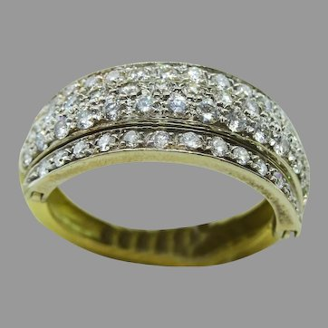 H Stern 3 part Flip Diamond Ring