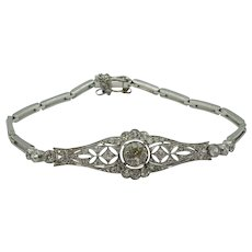 Art Deco Platinum and Diamond Bracelet