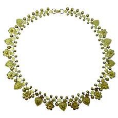 Vintage Oriental 21 karat gold necklace