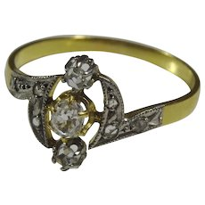 Vintage 18 karat Gold and Diamond Ring