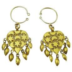 Traditional Antique Kurdish Earrings made in 21 karat gold