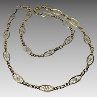 "Vintage 14 karat Gold French ""citour necklace"""