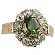 Victorian Peridot and Diamond Ring