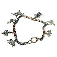 Edwardian Platinum and Diamond Charm Bracelet