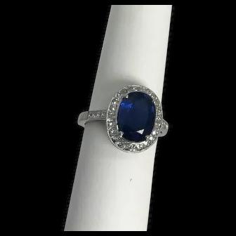 "Modern ""Sophia D"" Platinum Sapphire 3.50 carat & Diamond 1.0ctw. Ring"