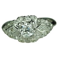 .40 Carat Diamond Art Deco Ring