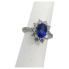 Tiffany & Co. Tanzanite Diamond Halo Ring