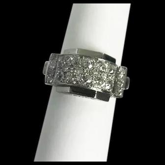Retro Platinum & Diamond Ring 1.50ctw