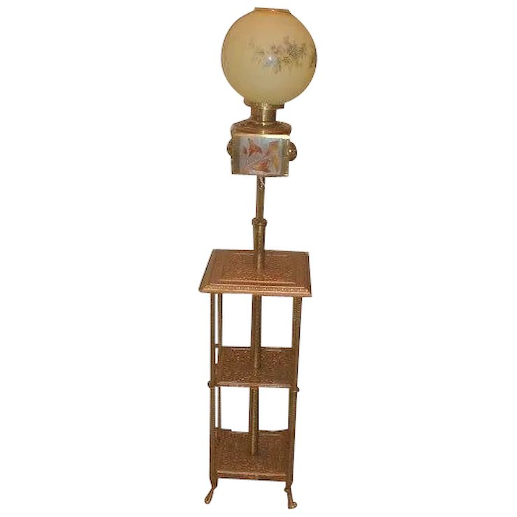 Victorian Piano Lamp By Parker Brothers