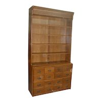 Country Store Display Cabinet with 16 Apothecary Drawers