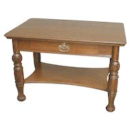 Victorian Oak Library Table or Desk