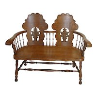 Oak Settee from Victorian Era