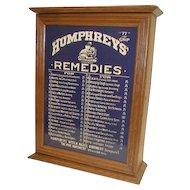 HUMPHREYS REMEDIES Medicine Dispensing Cabinet