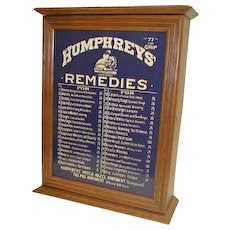 HUMPHREYS REMEDIES Medicine Dispensing Cabinet