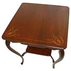 Victorian Mahogany Lamp Table with Inlay