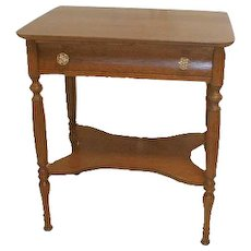 Oak  Lamp Table with Drawer