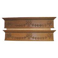 Oak Over Door Victorian Pediments