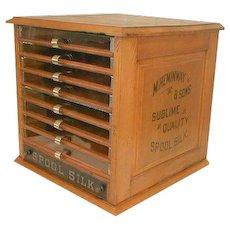 Heminway and Sons 9 Drawer Spool Silk Cabinet