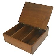 Primitive Walnut Knife Box from 19th Century