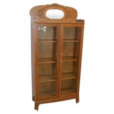 Oak Two Door Bookcase by Larkin Circa 1900