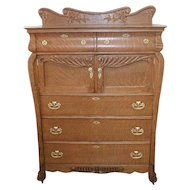 Large Oak Chest of Drawers with Double Hat Boxes