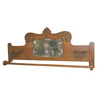 Oak Quilt Rack or Towel Bar RE PURPOSED from Antique Back Splash
