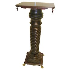 Large Cherry Victorian Pedestal with Rotating Top