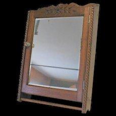 Victorian Oak Medicine Shaving Cabinet